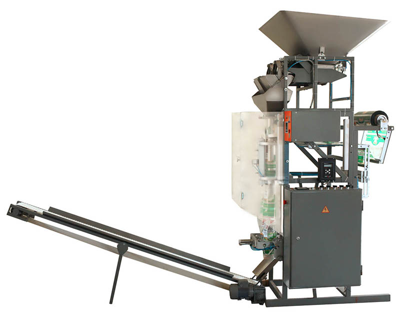 Weighing and packaging machine